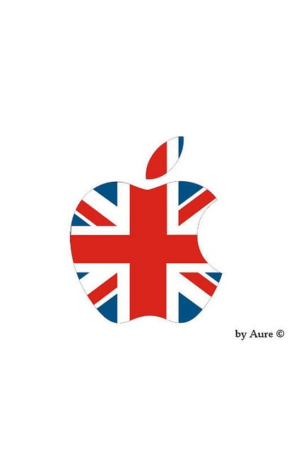 Union Jack ♔ Apple Logo by Aureliano Verita