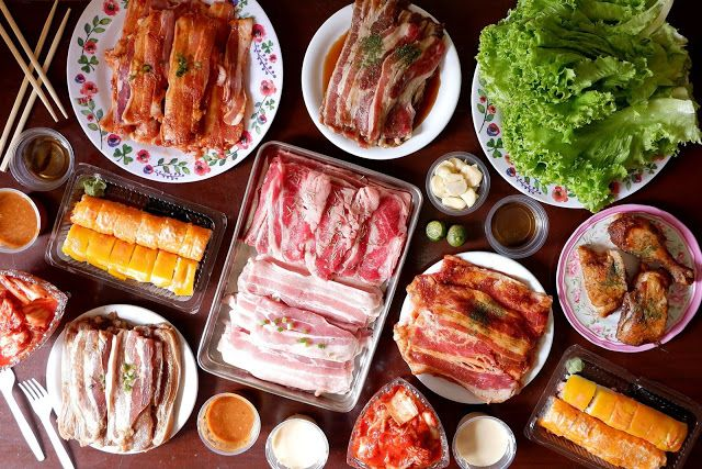 Enjoy K Bbq At Home With Hodai S Samgyup Delivery Service In 2020 Asian Cooking Fried Chicken Delivery Pork Dishes