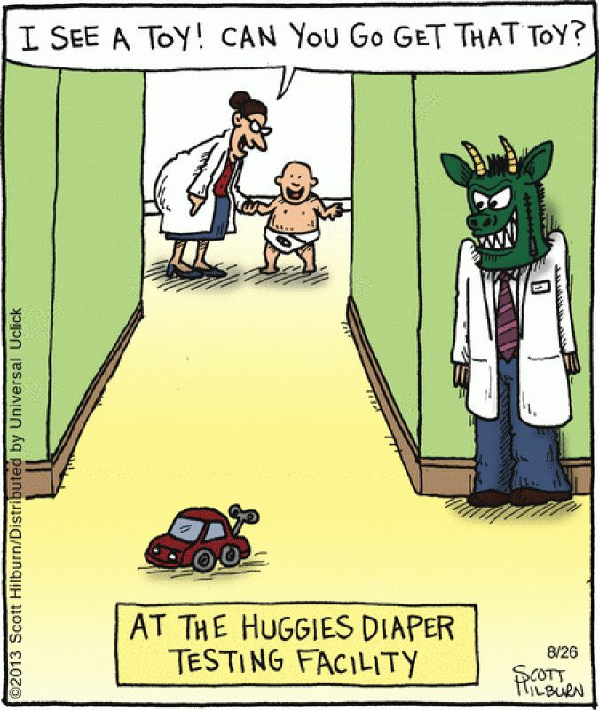 Meanwhile At The Huggies Testing Facility | UrlyBits