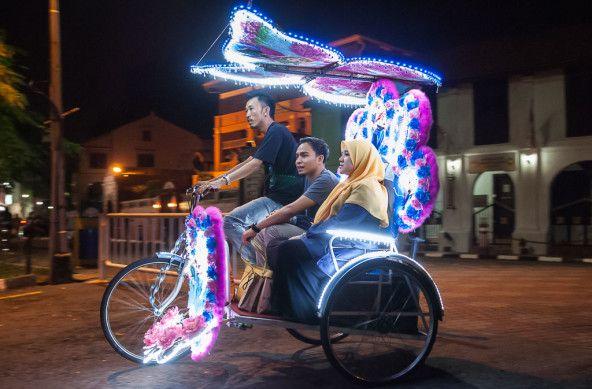 Foto Der Woche – Fahrradrikscha in Malakka in Malaysia