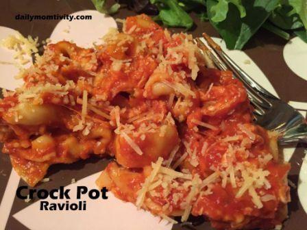 3 Ingredient Crock Pot Cheese Ravioli. - Blooming on a Budget