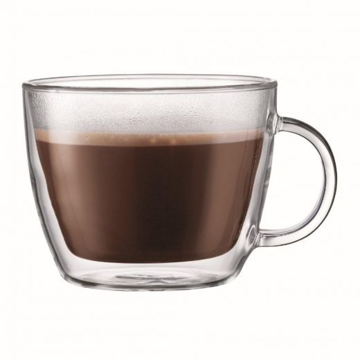 Bodum Bistro Double Wall Cafe Latte Cup, Set of 2