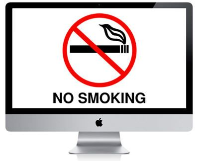 Apple Computer's Warranty void Smoking Near It