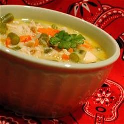 Vegetable Soup .....  Soups Stews And Chili, Creamy Chicken Vegetable Chowder, Delicious Blend Of Fresh Veggies, Cheese And Chicken. Easy!