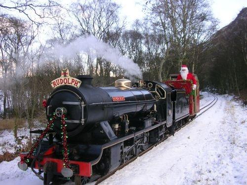 Ravenglass & Eskdale Santa Express Train in The Lake District.