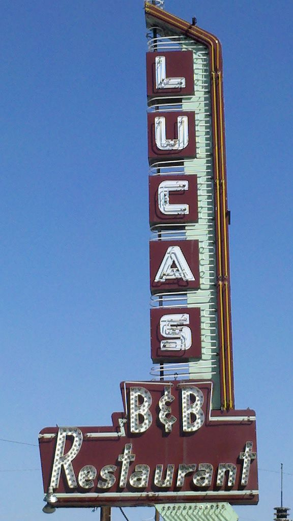 Lucas B Restaurant At 3520 Oak Lawn In Dallas Texas Favored By Jack Ruby Vertical SignageOld