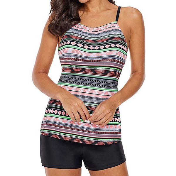 FloryDay / Bikini e costumi da bagno Tankini Dello spandex Poliestere Blocchi di colore (30015435145)