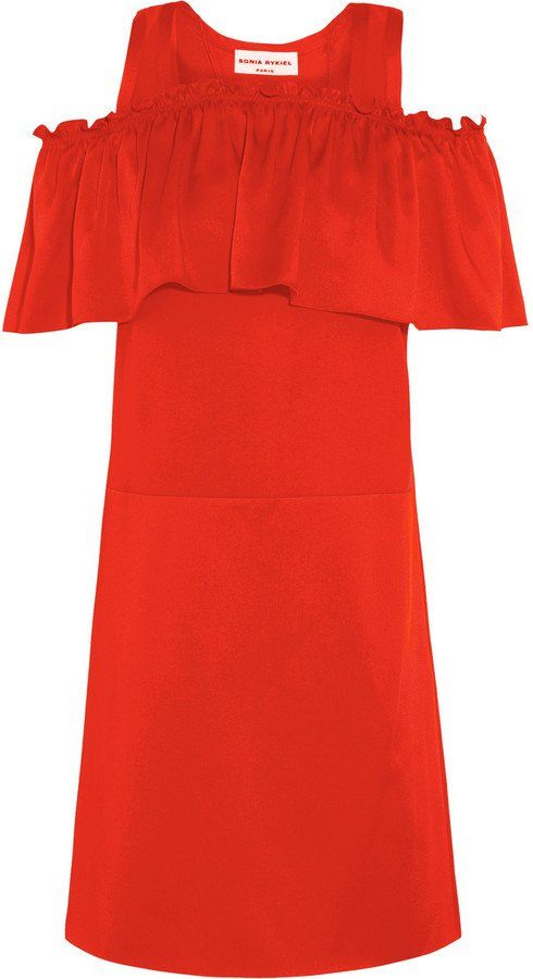 Pin for Later: The Most Stylish Wedding Guest Dresses —at Every Price Point  Sonia Rykiel Ruffled Satin Mini Dress ($920)