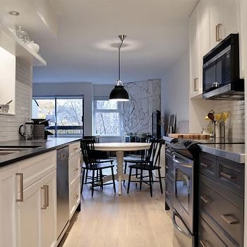 51 best hardwood images on pinterest hardwood floors for Galley kitchen without upper cabinets
