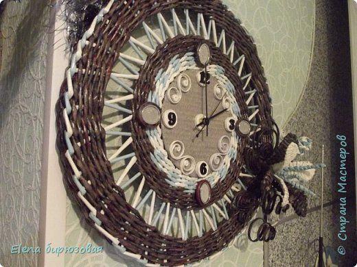 Плетение А у меня опять часы  Бумага газетная Трубочки бумажные фото 2