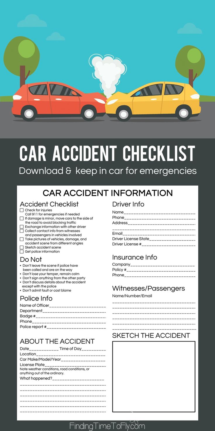 Be prepared for an emergency. This printable Car Accident Checklist is going in each one of our cars. Great idea for a new teen driver!