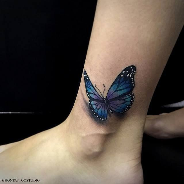 Funky 3d Butterfly Tattoos Ideas On Ankle 3d Butterfly Tattoo Butterfly Tattoo Butterfly Tattoos For Women,Master Bedroom Designs Indian Style