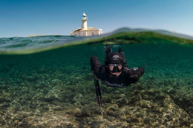 Buena foto de #Pesca submarina que nos manda http://www.nauticaavinyo.com  Distribuidor oficial de #Lowrance en España!