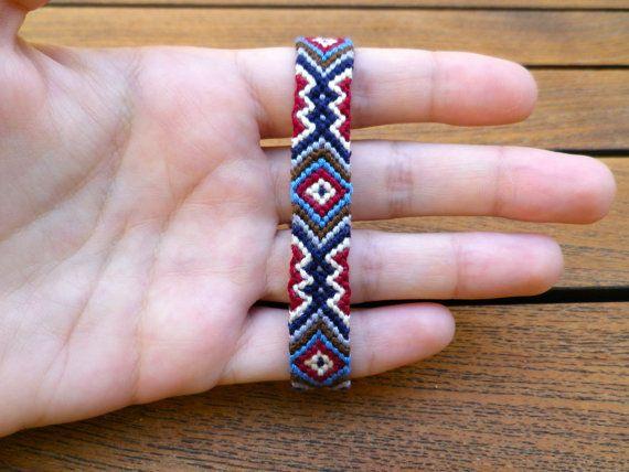 Friendship Bracelet Aztec Triangle Pattern by ellawraps on Etsy
