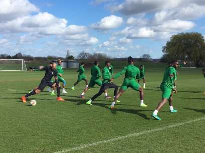 Sports: Rohr holds first training session ahead Super Eagles' friendly games   The training session held at The Hive (home ground of Barnet Football Club) in London.  The Super Eagles of Nigeria yesterday March 21 held their first training session ahead of their friendly games against Senegal and Burkina Faso.    The Super Eagles of Nigeria face Senegal and Burkina Faso on Thursday March 23 and Monday March 27 respectively in London.  Super Eagles players in training (Twitter/NFF)  Ahead of…
