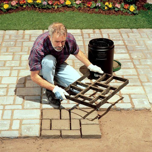 Concrete stone mold walkway maker kit cement brick patio for What temperature to pour concrete outside
