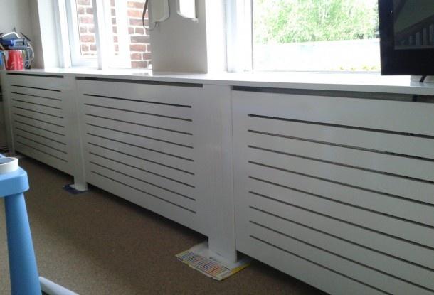 Zelf gemaakte radiator ombouw uit MDF Door hilvesa