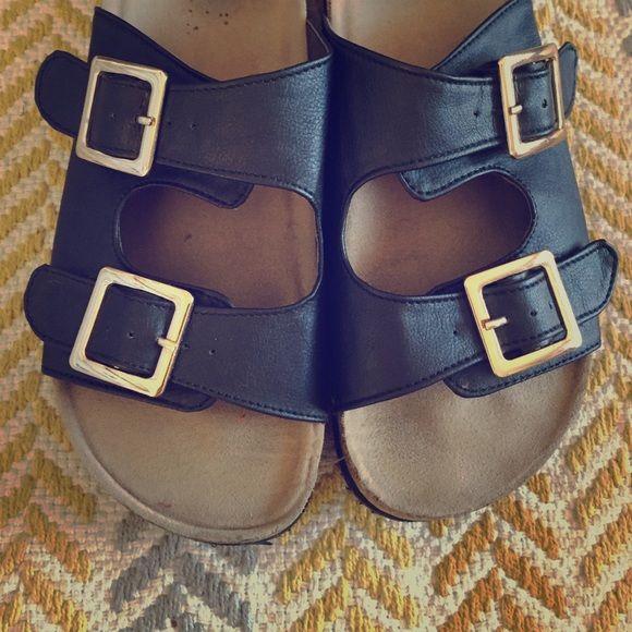 Birkenstock heels Birkenstock look a likes black and gold Birkenstock Shoes Sandals