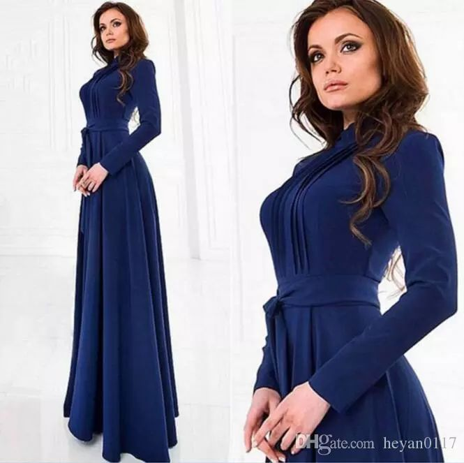 2017 Elegant Women'S Kaftan Abaya Islamic Muslim Evening Party Long Sleeve Vintage Long Maxi Dress Ethnic Clothing From Heyan0117, $10.06 | Dhgate.Com