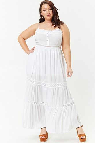 e87f1fde526c8 Plus size crinkled Maxi dress
