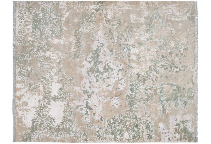 Calum Hand-Knotted Rug, Silver