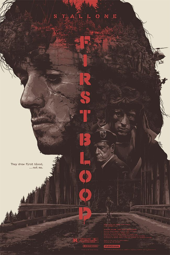 Sick poster for First Blood.  First Blood - Gabz