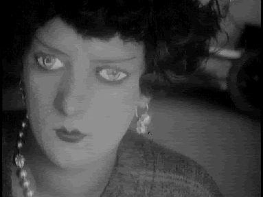 Kiki of Montparnasse, queen of 1920s Parisian bohemia, in Emak Bakia (aka Leave Me Alone, 1926, dir. Man Ray) #gif