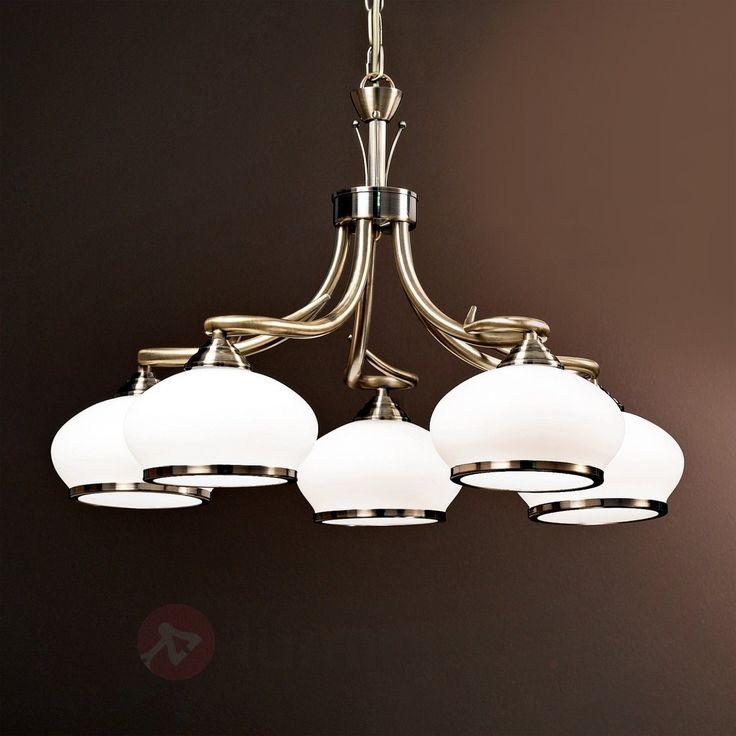 Suspension exceptionnelle à 5 lampes Elvira sicher & bequem online bestellen bei Lampenwelt.de.