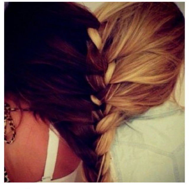 72 best hair styles images on pinterest hair chignons and make up 2 peoples hair braided together ccuart Choice Image