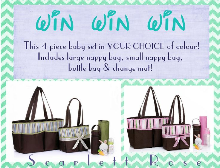 Win a nappy bag collection :-)