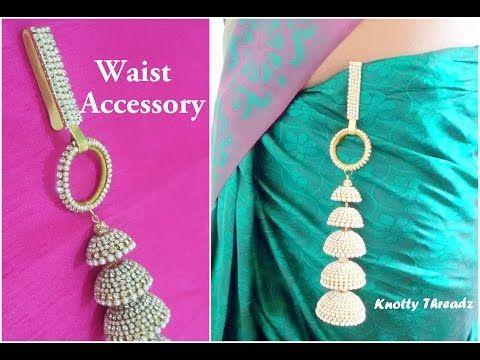 DIY | Convert your Long Bridal Jhumka into a Waist Accessory | Easy | Quick | Elegant | Multipurpose - YouTube