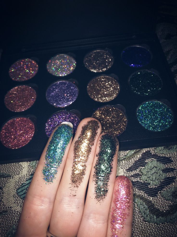 Vanity Pool glitter palette, $32 + Free shipping WORLDWIDE, Vegan, cruelty-free​, handcrafted glitter eyeshadow palettes