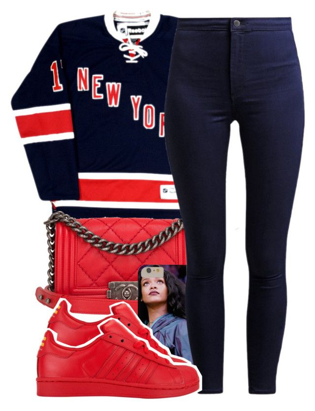 """""""just getting home"""" by lovebrii-xo ❤ liked on Polyvore featuring Chanel, adidas, women's clothing, women's fashion, women, female, woman, misses and juniors"""