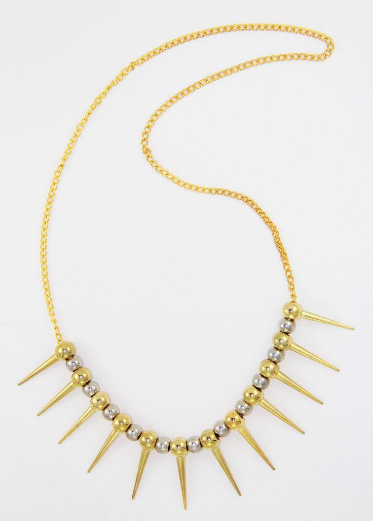 Gold Çivi Kolye 38 cm uzunlugunda. www.suanyemoda.com