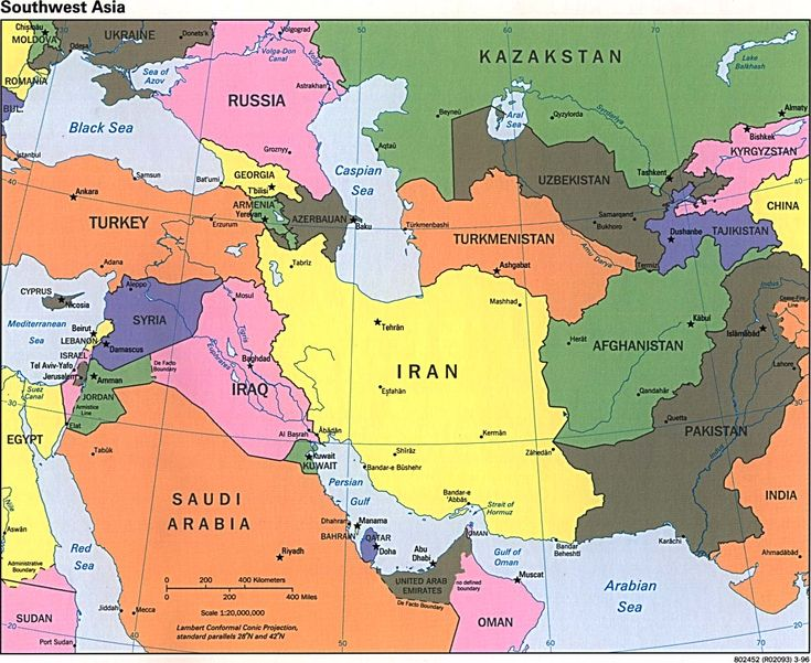 Middle East and central Asia was where Russia was active in Persia and Afghanistan.