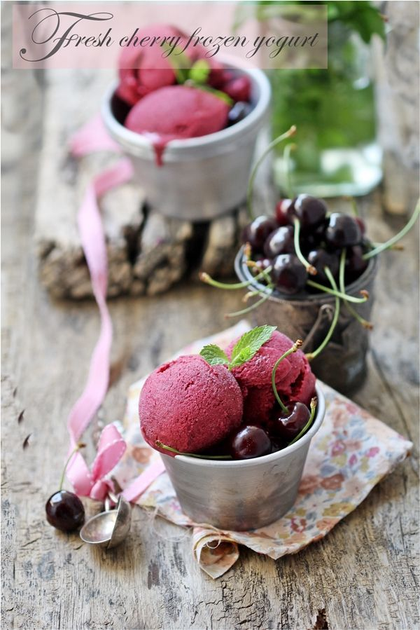 Fresh Cherry Frozen Yogurt recipe by Passionate About Baking. Our ...