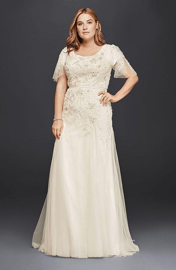 61 best modest lds wedding dresses images on pinterest for Lds plus size wedding dresses
