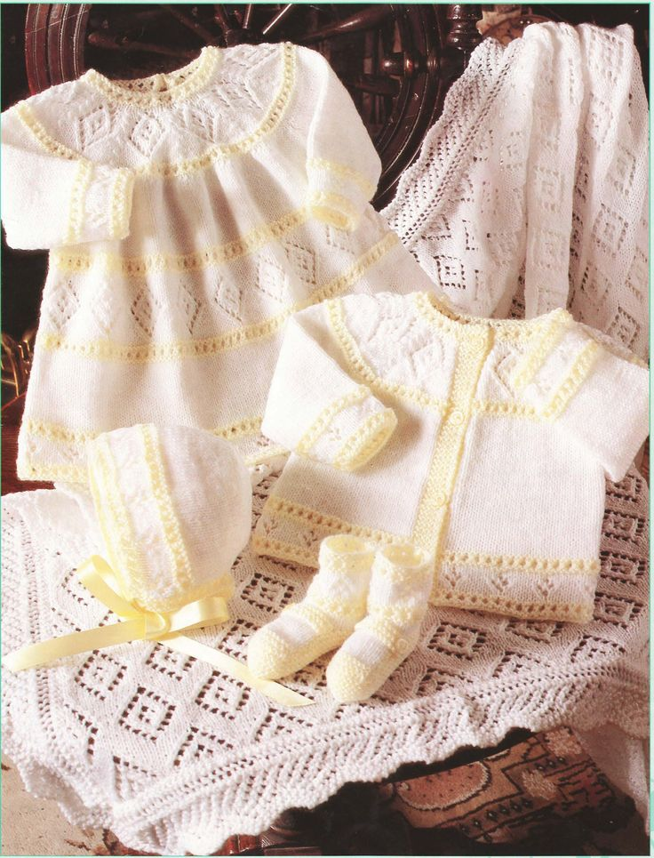 Vintage Knitting Pattern 4ply Baby by avintagescot
