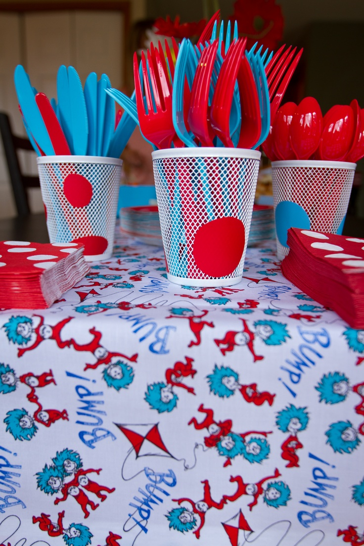 Thing 1 And 2 Fabric Runner Cat In The Hat Party