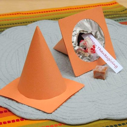 Sally's Thanksgiving Cone-ucopias.  Cute for party favors too.