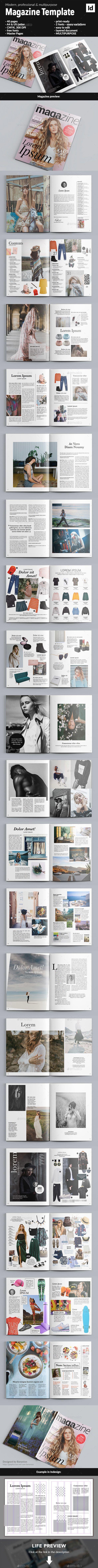40 Page Magazine - Magazines Print Templates