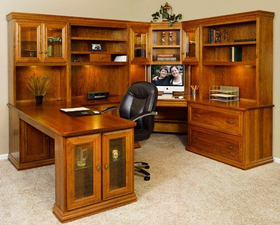 The Bennington Executive Desk series, shown in Solid Cherry wood. Choose  from many styles