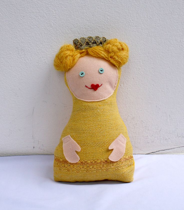 The princess, handwoven softie, plush, pillow by ERGANIweaving on Etsy