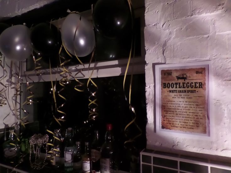 Prohibition party decor