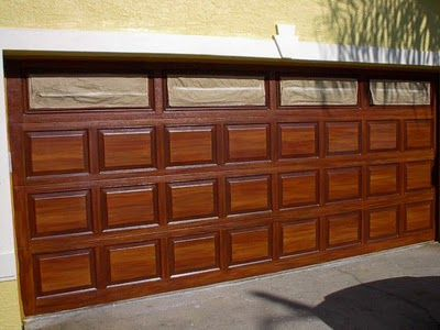 How To Paint Wood Grain On Garage Door. | Everything I Create - Paint Garage Doors To Look Like Wood