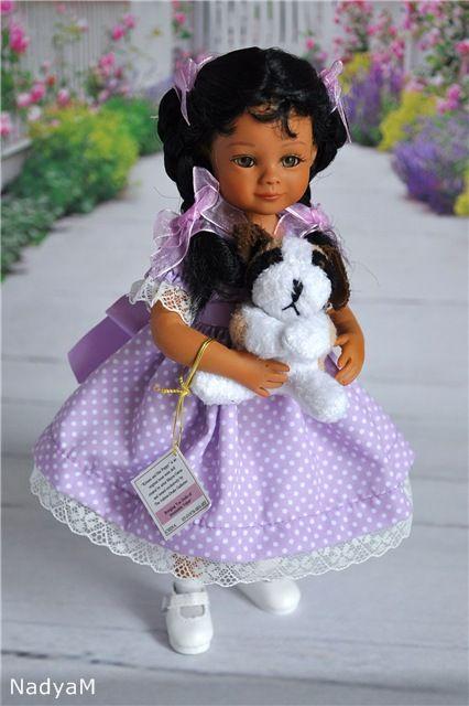 """Малышка Кимани (KIMANI) со своим щенком от Mayra Garza из серии """"Мой друг навсегда"""" / Коллекционные куклы (винил) / Шопик. Продать купить куклу / Бэйбики. Куклы фото. Одежда для кукол"""