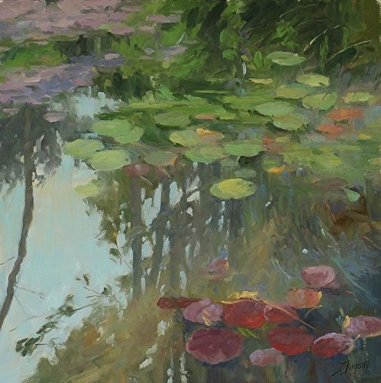 Giverny V, May 2017 by Susan Fuquay Oil ~ 16 x 16
