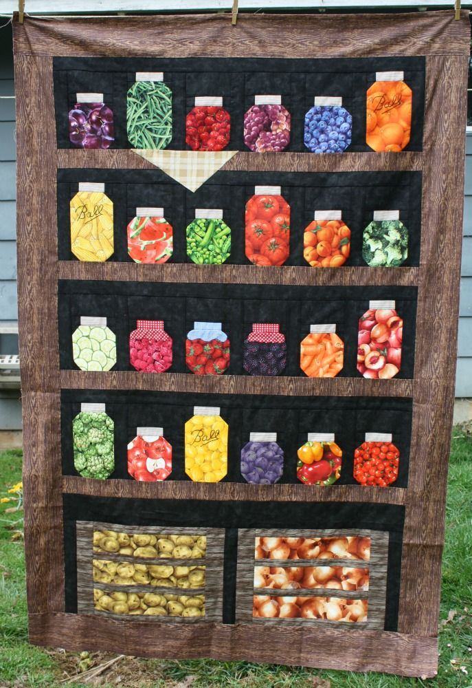 141 best images about Quilts : jar quilts on Pinterest Canning jars, Candy jars and Quilt