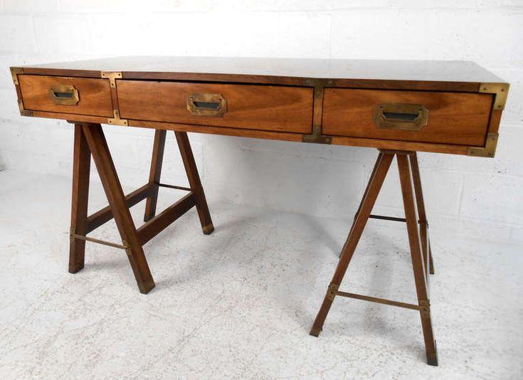 Vintage Campaign Desk by Bernhardt | Campaign desk, Furniture storage and  Desks - Vintage Campaign Desk By Bernhardt Campaign Desk, Furniture