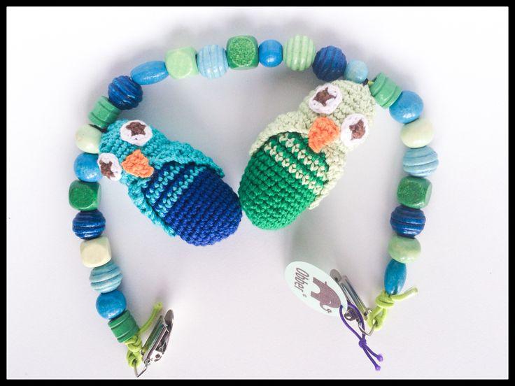 Crochet owls -hæklet barnevognskæde #obber